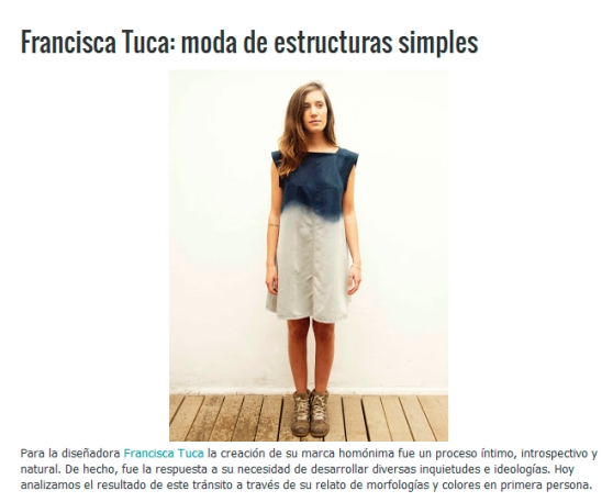Quinta Trens | Aquí puedes leer el reportaje completo: http://www.quintatrends.com/2012/11/francisca-tuca-moda-de-estructuras.html